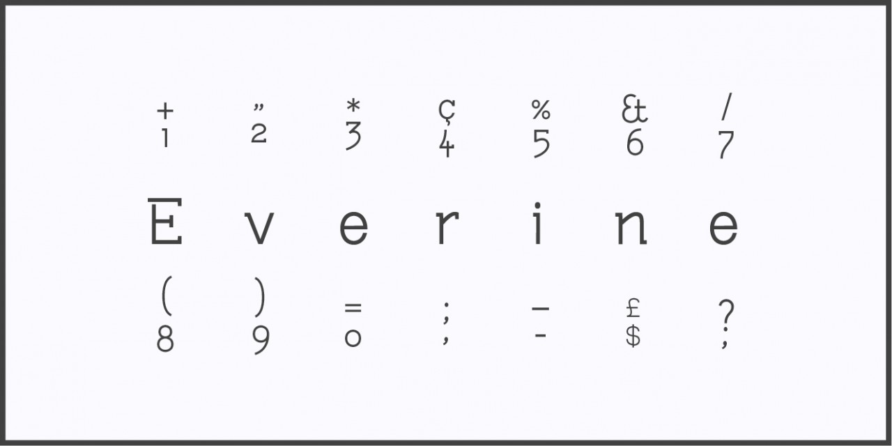 Malaïka Schürch «Everine» — font
