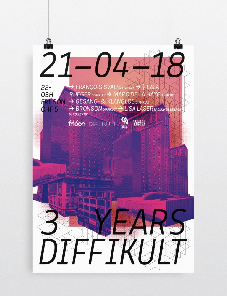 Malaïka Schürch Poster three years DIFFIKULT